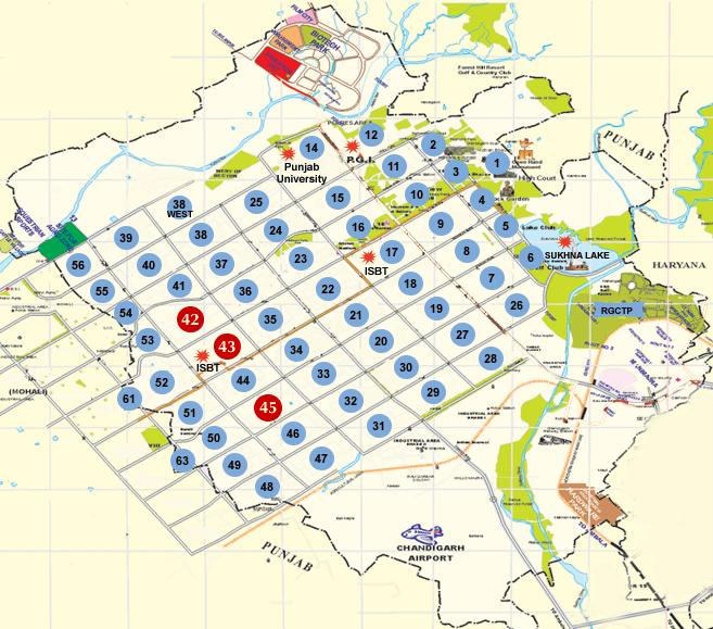 Chandigarh Interactive City Map